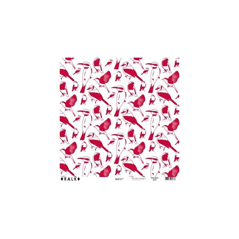 Papier KALK - Oiseau Rouge