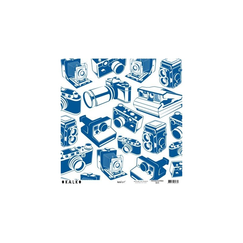 Papier KALK - Photo Bleu électrique