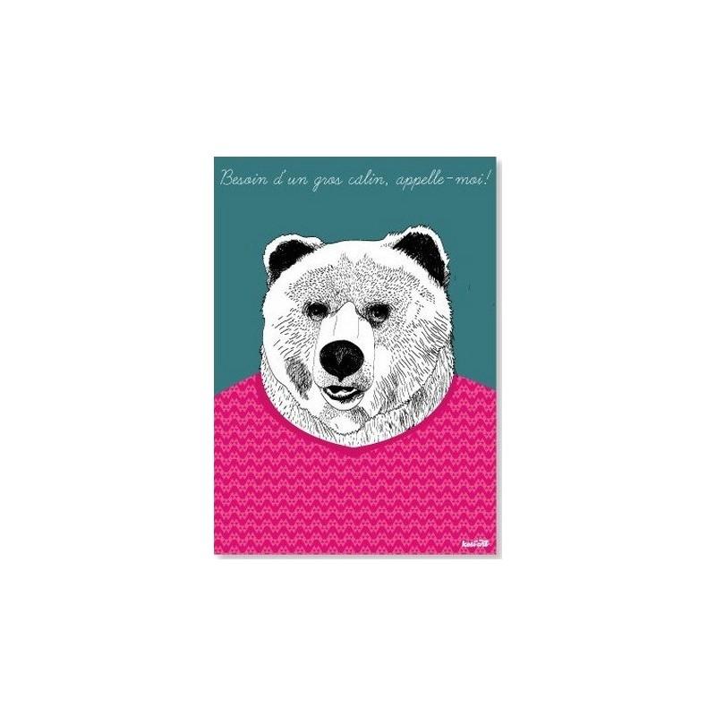 Carte Postale KesiArt - Gros Câlin