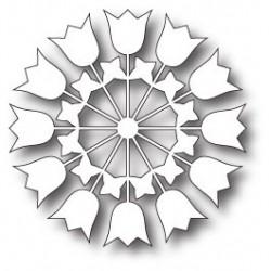 Die Memory Box - Paper Cut Tulips Circle