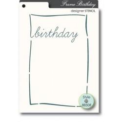 Pochoir MemoryBox - Birthday