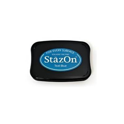 Encreur Stazon Teal Blue