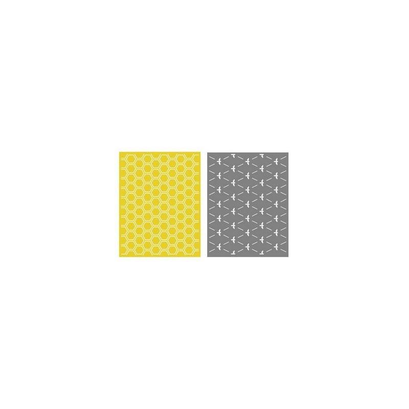 Set de 2 pochoirs de gaufrage Lifestyle Crafts - Honeycomb