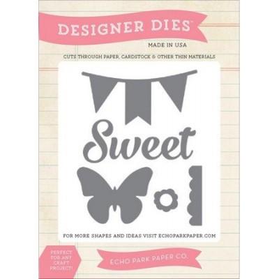 Die Echo Park - Designer Dies - Sweet, Butterfly, Banner Die