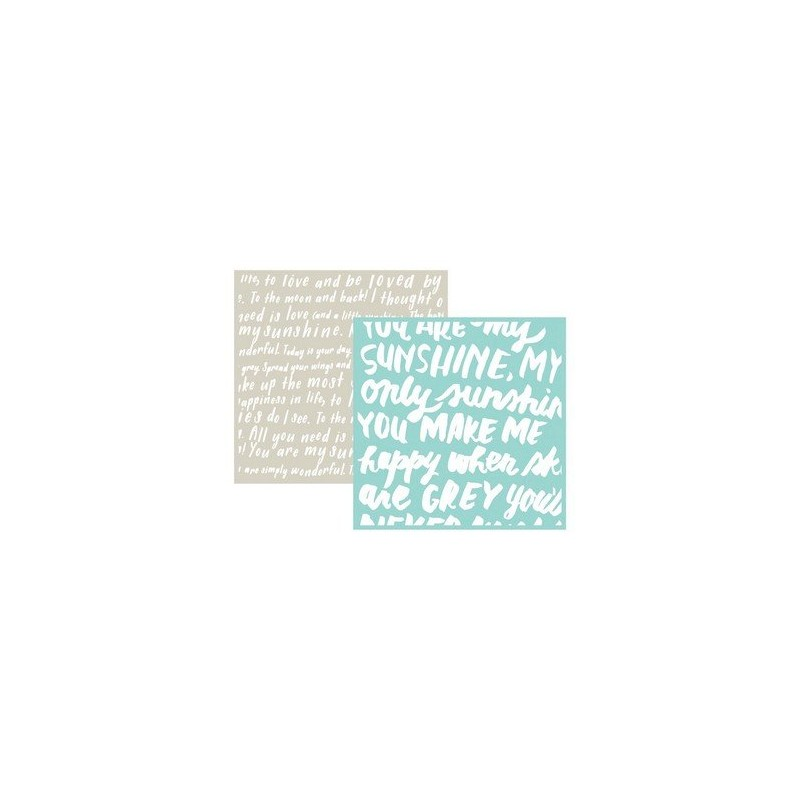 Set de 2 pochoirs de gaufrage Lifestyle Crafts - Script