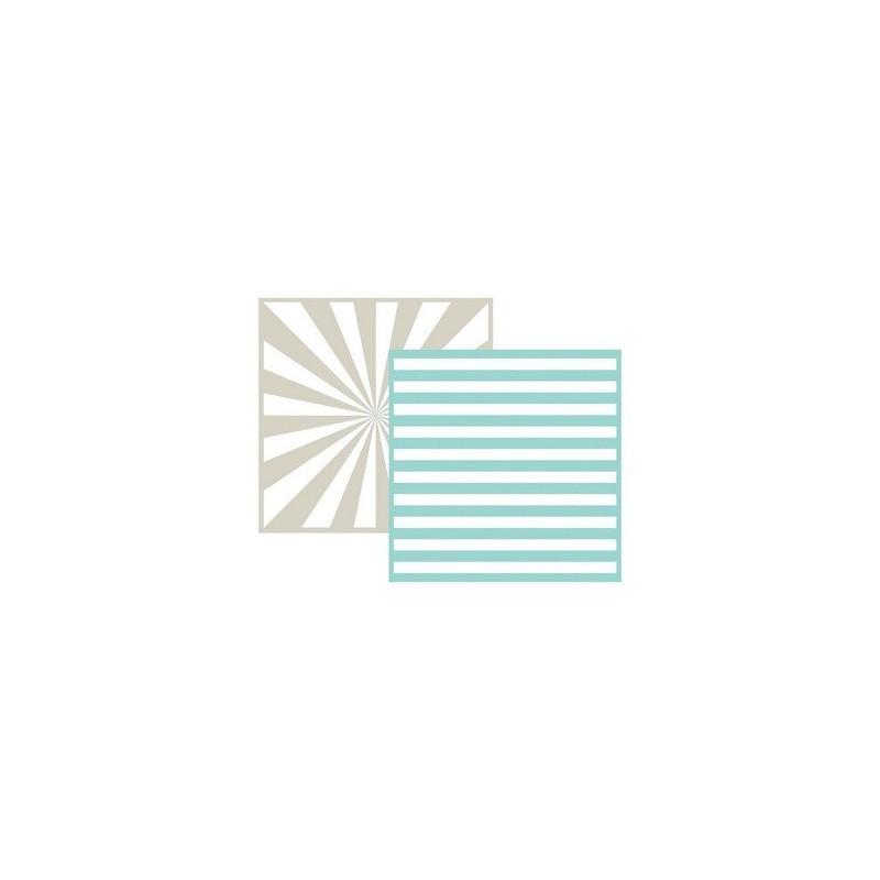 Set de 2 pochoirs de gaufrage Lifestyle Crafts - Stripe