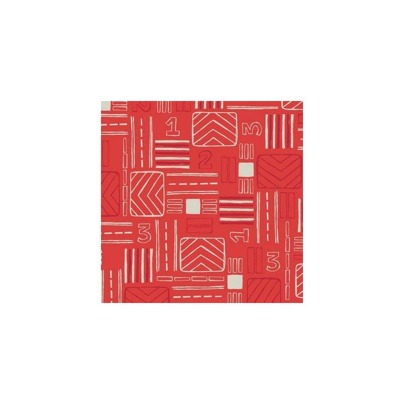 Fat Quarter Camelot - Take Flight - Signals Red