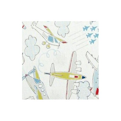 Fat Quarter Camelot - Take Flight - Airplanes White