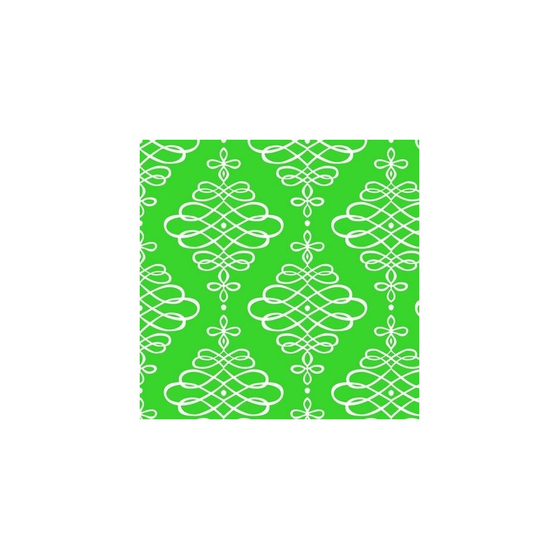 Fat Quarter Camelot - Neon & On - Scroll Neon Green