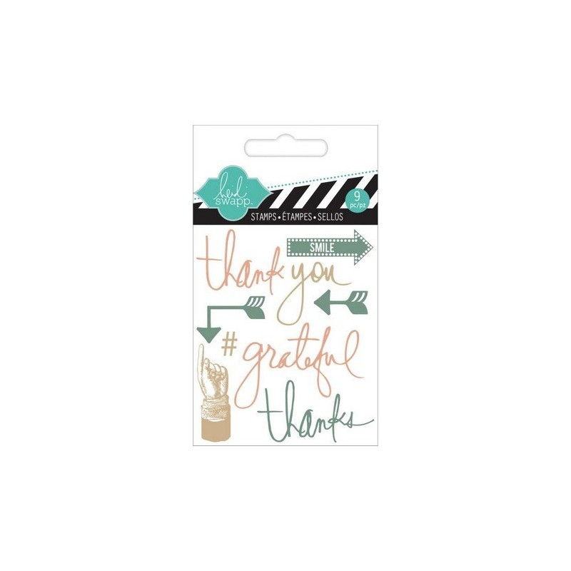 Tampons Clear - Heidi Swapp - Thank You