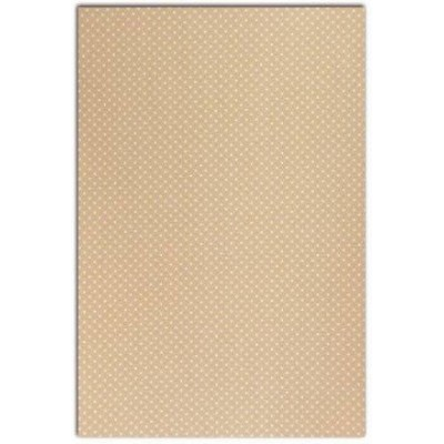 Coton enduit DailyLike - Beige pois blanc