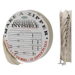 Rouleau de fermeture zippée - Invisible - Beige