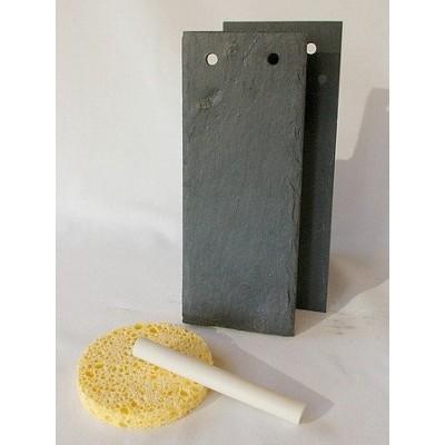 Support en ardoise - Rectangle 6x15 cm 2 trous - 2 pièces