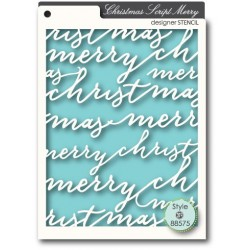 Pochoir MemoryBox - Christmas Script Merry