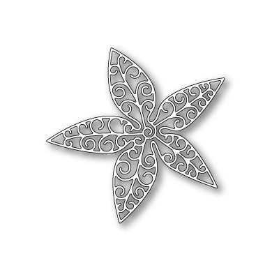 Die Poppystamps - Luxe Poinsettia Outline