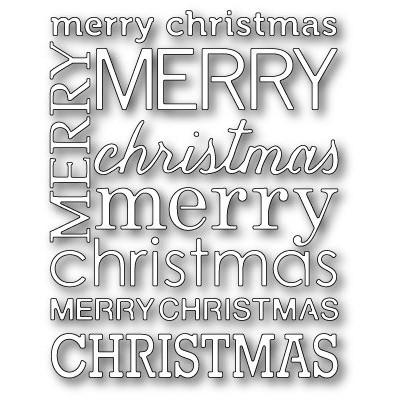 Die Poppystamps - Merry Christmas Background