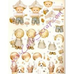 Image Carterie 3D pré-découpée - Petits gavroches