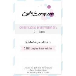 Chèque Cadeau de 5 euros