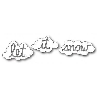 Die Memory Box - Let It Snow Clouds
