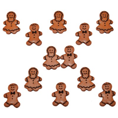 Boutons Dress It Up - Gingerbread People