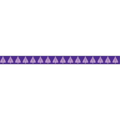 Masking Tape - Sapins roses sur fond violet