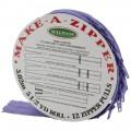 Rouleau de fermeture zippée - Violet
