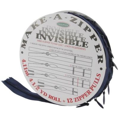Rouleau de fermeture zippée - Invisible - Bleu Marine