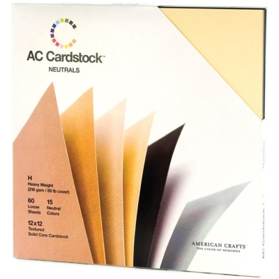 Pack Cardstocks American Crafts - Neutrals (60 feuilles)