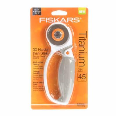 Cutter rotatif Fiskars 45 mm - Titanium