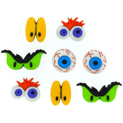 Boutons Dress It Up - Monster Eyes