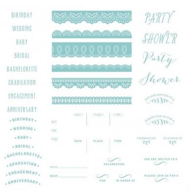 Plaques pour Letterpress - Formal Invite