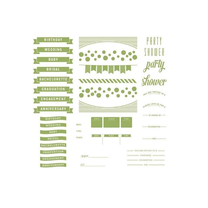 Plaques pour Letterpress - Whimsy Invite