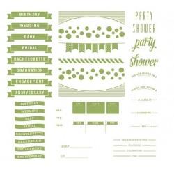Plaques pour Letterpress - Floral Invite