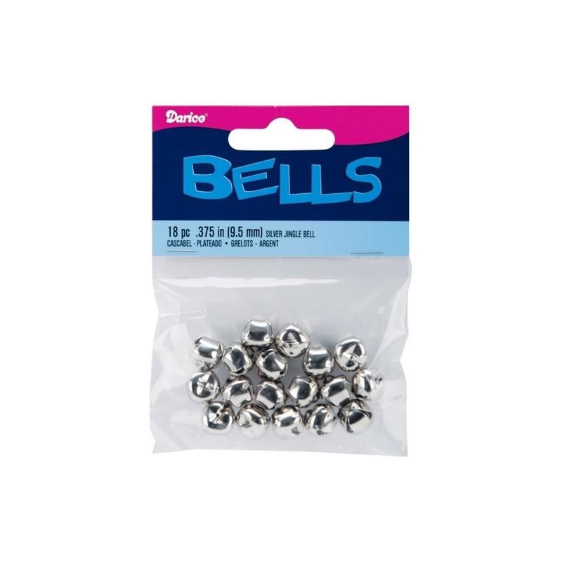 Grelots argentés 9.5 mm (18 pièces)