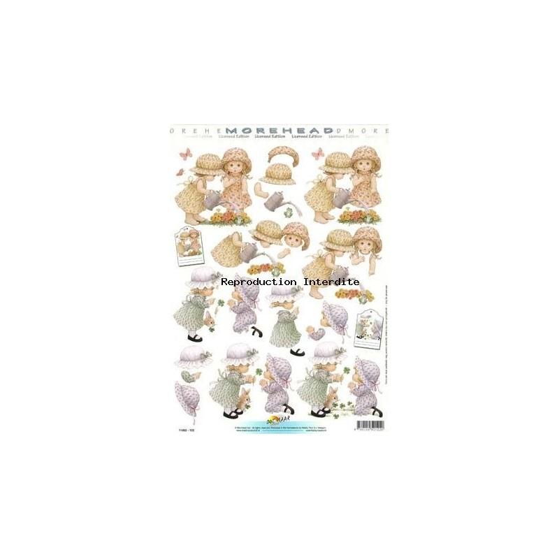 Image Carterie 3D - Fillettes jardinières