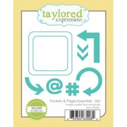 Die Taylored Expressions - Pockets & Pages Essentials - 2x2