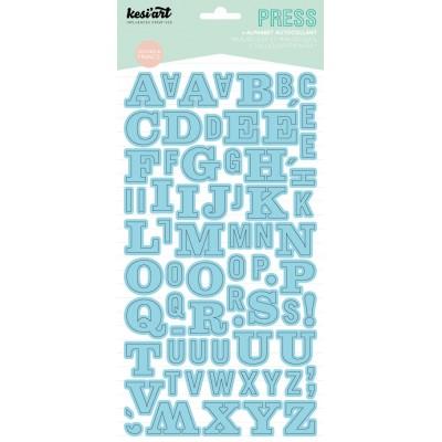 Alphabet Press Kesi'Art - Bleu