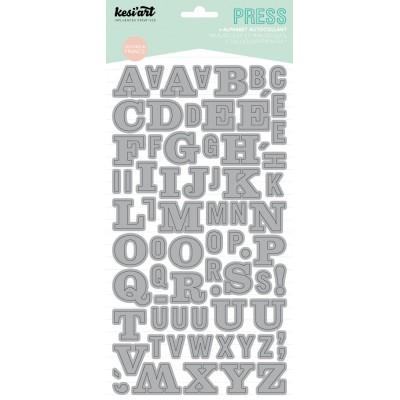 Alphabet Press Kesi'Art - Gris