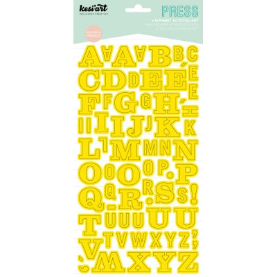 Alphabet Press Kesi'Art - Jaune
