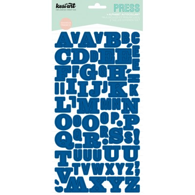 Alphabet Press Kesi'Art - Bleu électrique