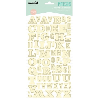 Alphabet Press Kesi'Art - Ecru