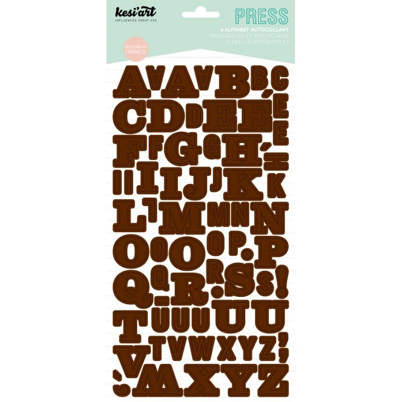 Alphabet Press Kesi'Art - Marron