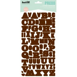 Alphabet Press Kesi'Art - Marron
