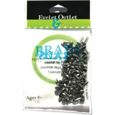 Brads Eyelet Outlet 4 mm - Brushed Silver