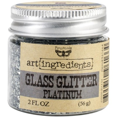 Glass Glitter - Art Ingredients - Platinum