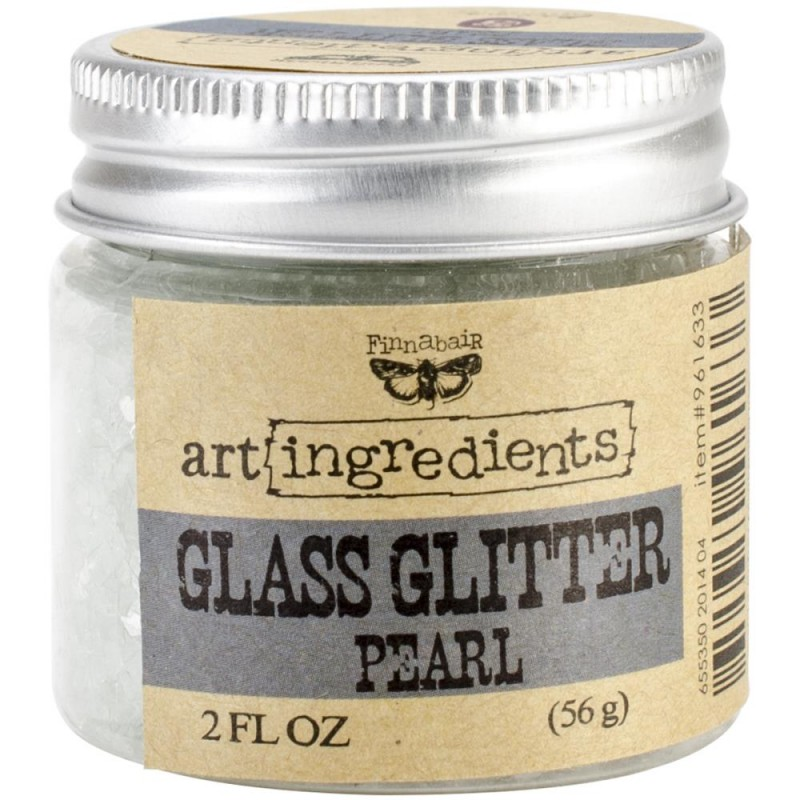 Glass Glitter - Art Ingredients - Pearl