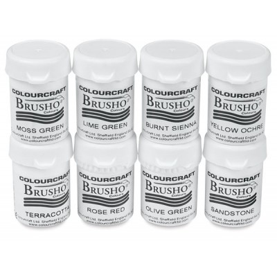 Brusho Crystal Colours - Pack de 8