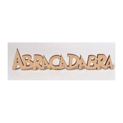 Sujet en bois - Abracadabra