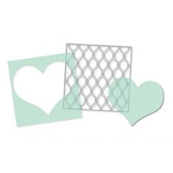 Masks Heidi Swapp (par 3) - Heart, Cut Out Heart & Fence