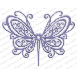 Die Impression Obsession - Open Scroll Butterfly